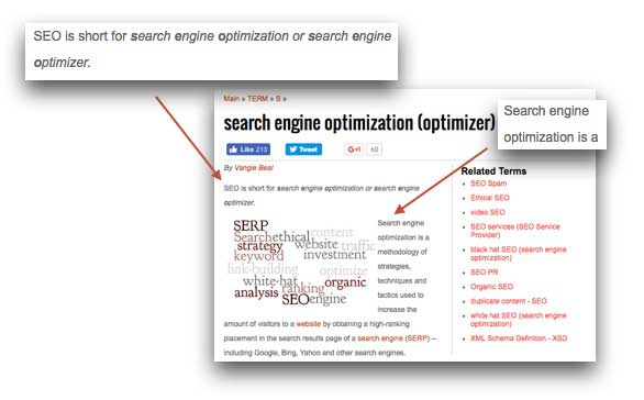 Example of Keyword Optimization