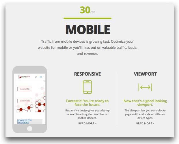 Website Grader Mobile Results