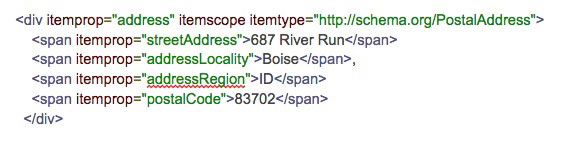 Example Of Inline Microdata Markup