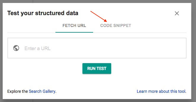 Google Structured Data Tool Example