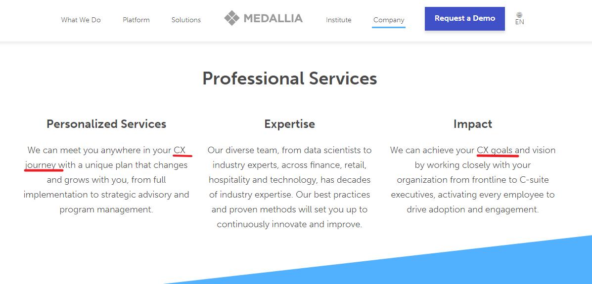 Medallia Service Page